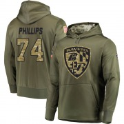 Youth Tyre Phillips Baltimore Ravens Olive Salute to Service Pullover Hoodie